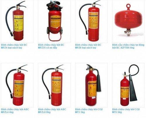 Các loại bình chữa cháy