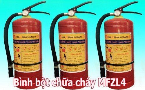 Bình bột chữa cháy MFZL4 đạt tiêu chuẩn quốc tế ISO 9001