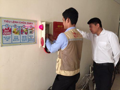 Bảo trì hệ thống báo cháy HOCHIKI tại tòa nhà Tân Sáng – TP Hưng Yên
